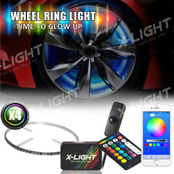 All-color Led Illuminated Wheel Rings Lights 15andrdquo Bluetooth Iphone Android Remote