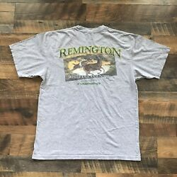 Remington Whitetail Country Grey Sleeve Men's T Shirt Large Hunting Outdoors