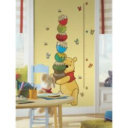 New Winnie The Pooh Growth Chart Wall Decals Baby Nursery amp; Kids Room Stickers