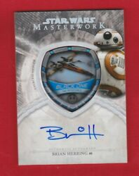 Brian Herring As Bb-8 2018 Topps Star Wars Masterwork Galactic Emblem Auto 5/5