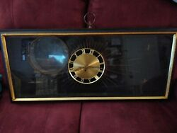 Vintage Syroco Ornate Gold 8-day 18 Wall Clock And 2 Matching Candelabras Sconces