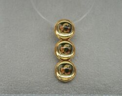 Lalique Plated Journey Pendant 3 Yellow Cabochon Crystals.fishing Line Chain 17