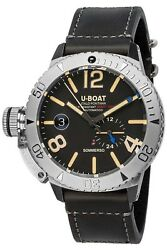 Watch Man U-boat Sommerso 9007a Leather Black