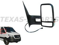 New Fits Right Passenger Side View Mirror Long Arm Heated Power Signal Sprinter