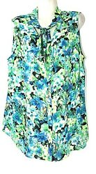 Relativity Women's Sleeveless Floral Top With Tie 2x 22 24 New