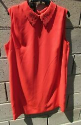 Ted Baker Dress Size 4, 5 Small Red Black Sleeveless Valentine Offer New