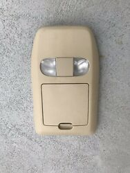 04-08 Ford F150 Overhead Console Assembly Storage Cubby Dome Light Tan
