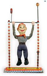 Scarce Authentic 1940s Antique Howdy Doody Jumping Puppet Acrobat Tin Statue Toy