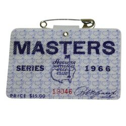 1966 Used Masters Golf Badgecollectors Itemvery Very Rare Ticketjack Nicklaus