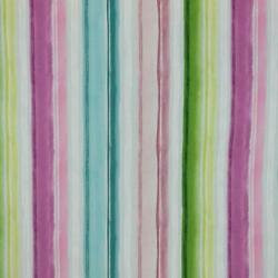 3 Colors Stripe Upholstery Drapery Fabric Coral Green Teal / Rmil14