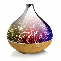LED 3D Glass Design Smart Essential Oil Diffusers 300ml Humidifiers + Vaporizer