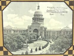 Framed Xmas Photo Frm Community Gin Go Riesel Tx Of The Texas State Capitol Bldg