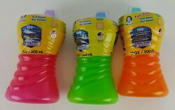 3 Gerber Sippy Cups 10 Oz Fun Grips Soft Spout Leak Break Spill Proof Colors