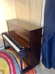 Vintage Cable Usa Made Console Upright Piano, Refinished And Reconditioned