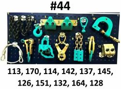 Set44 - 12 Heavy Duty Auto Body Frame Machine Pulling Tools Clamps Mega Pack