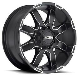 (4) 17x8 Black Ultra Phantom 225 SBDC 5x4.5 10 Nitto Terra Grappler G2 37x12.5R