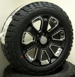 Chevy Silverado Tahoe 1500 20 Wheels Satin Black And Chrome With Bfg At Tires