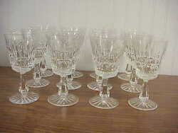 12 Waterford Kylemore Clear Cut Crystal Water Goblet Glasses