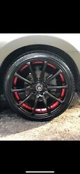 Used 18 Inch Premium Red And Black Rims With Brand New Tires Beautiful Rims