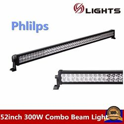 52inch 300w Led Light Bar Combo Offroad For Jeep Driving Car Baot Atv 4wd Truck
