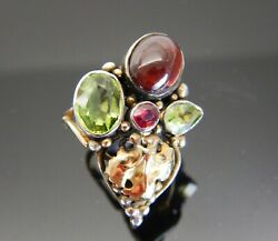 Arts And Crafts Gem Set Silver And Gold Ring Dorrie Nossiter Attrib