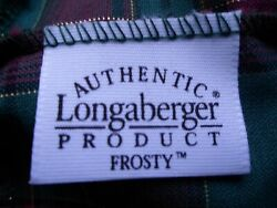 A Set Of Frosty And Frosty Jnr. Longaberger Basket With Dust Cloth And Stand