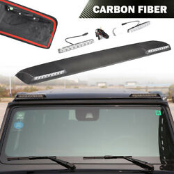 Carbon Front Roof Spoiler Wing with Light Fit For Benz G-Class G550 G63 AMG 2019