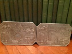 New York's World Fair Hot Pads 2 Rxr Ford Federal 1930's Vintage