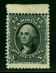 Us 1861 Washington 12c Black Sc 69 Mint Mh - Sheet Top - Large Stamp