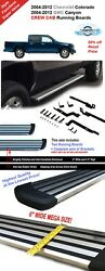 6 Running Boards 04-12 Fit Colorado Canyon Crew Double Cab Side Step Bar Chrome