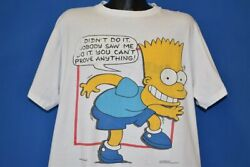 Vintage 90s Bart Simpson I Didnand039t Do It Nobody Saw Me You Canand039t Prove T-shirt Xl