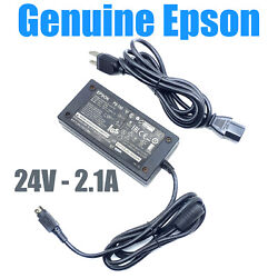 Genuine Epson Ps-180 3-pin Ac Adapter Power Supply M159b 24v 2.1a Oem W/p.cord
