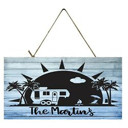 Personalized Beach Camper Printed Wood Sign $18.00