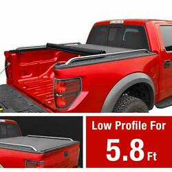 MaxMate Low Profile Roll Up Truck Bed Tonneau Cover Works with 2009-2019 Dodg...