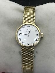 Omega Vintage Watch, Ladymatic Watch In 14k Yellow Gold And Hand Winding Mvnt