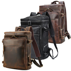 Real Leather Backpack Men Travel Office Hiling 15.6quot; Laptop Daypack School Bag $119.00