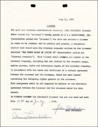 JOHN STEINBECK - CONTRACT SIGNED 07/11/1961
