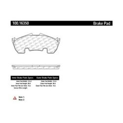 Disc Brake Pad Set-OE Formula Brake Pads Front fits 2009 Mercedes SLR McLaren