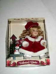 Limited Edition Collectors Choice Fine Bisque Porcelain Doll Christmas Unopened