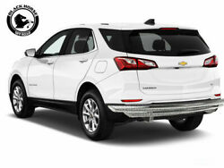 Black Horse 18-19 Chevy Equinox Stainless Rear Bumper Protector Double Layer