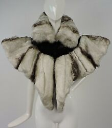 Most Dramatic Victorian 1880andrsquos Real Swanandrsquos Wing Feather Cape For Dress