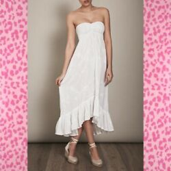 COOLCHANGE Lotus Sweetheart Embroidered High Low DRESS size S ~ Retail $228