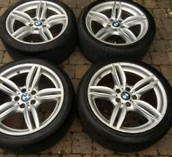 19andrdquo Genuine Bmw 351 Style Gloss Grey 5 Series F10 Shape Wheels Andtyres X 4