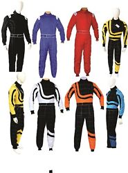 Pm Sports Adult - Karting Go Kart Race Rally Suit Poly Cotton One Piece Overall