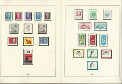 Germany Stamp Collection Ddr 1962-64 In Linder Album, 45 Pages, Dkz
