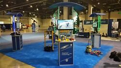 Linear Monitor Trade Show Kiosk Kit 4 Kiosks With Containers