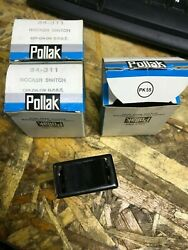 Lot Of 3 Pollak 34-311 4-blade Off-on-on Rocker Switch