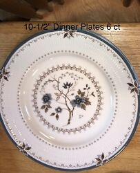 """Royal Doulton China Old Colony Floral Ribbed Dinner Plate 10 3/4"""" Replacement"""