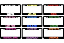50 Custom Personalized License Plate Frame Color Choice