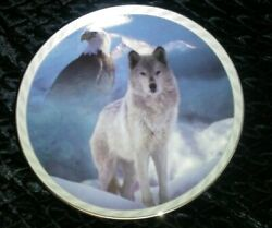 United In Spirit Masters Of The Land And Sky Bradford Exchange Plate Wolf Eagle